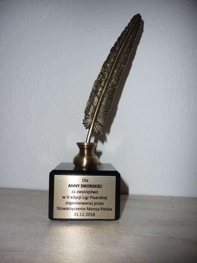 image from Nagroda za zwycięstwo w Lidze Pisarskiej MP