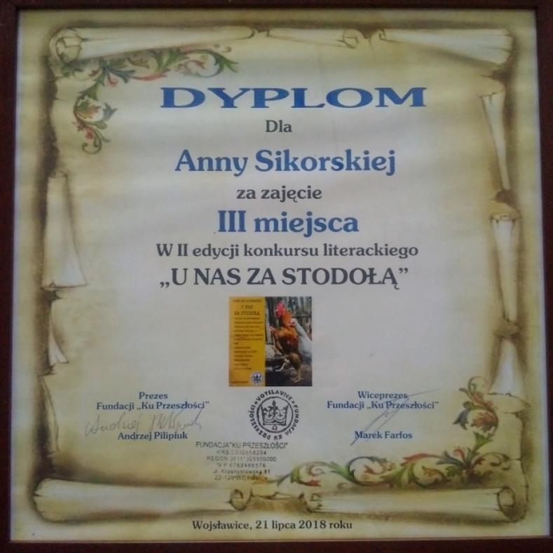 image from III miejsce w konkursie - dyplom